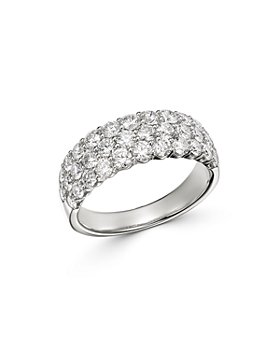Bloomingdale's - Diamond Pavé Band Ring in 14K White Gold, 2.0 ct. t.w.