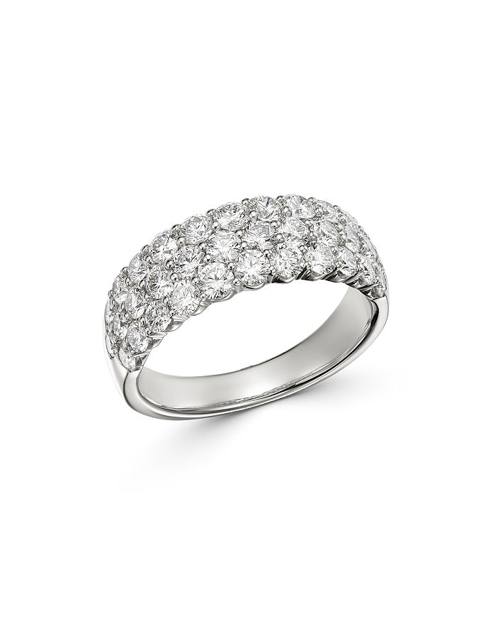 Bloomingdale's - Diamond Pavé Band Ring in 14K White Gold, 2.0 ct. t.w. - 100% Exclusive