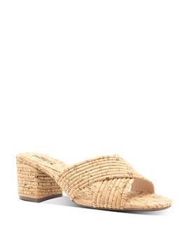 SCHUTZ - Women's Ana Kate Slip On Mid-Heel Sandals
