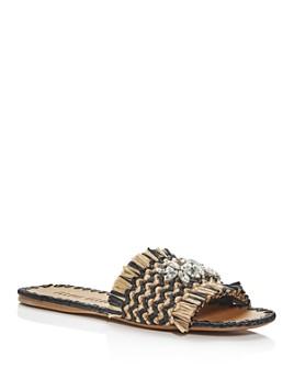 Miu Miu - Women's Calzature Donna Crystal Slide Sandals