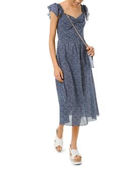 MICHAEL Michael Kors - Cotton Floral-Print Dress