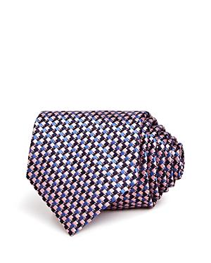 Ermenegildo Zegna Multi-Square Grid Silk Classic Tie-Men
