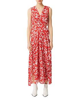 Maje - Renilde Abstract-Print Maxi Dress