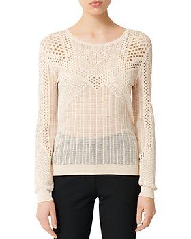 Maje - Maelys Open-Knitwork Sweater