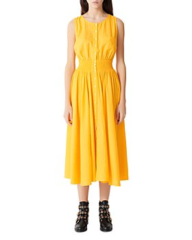 Maje - Rellow Smocked Midi Sundress