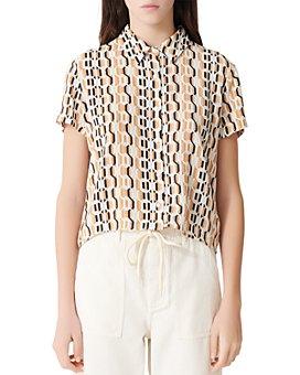 Maje - Cora Geometric-Print Shirt