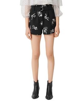 Maje - Ima Floral Embroidered Shorts