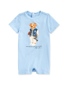 Ralph Lauren - Boys' Cotton Polo Bear One-Piece - Baby