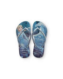 havaianas - Girls' Frozen Glitter Slim Flip-Flops - Walker, Toddler, Little Kid