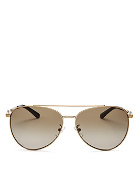 Tory Burch - Women's Brow Bar Aviator Sunglasses, 58mm