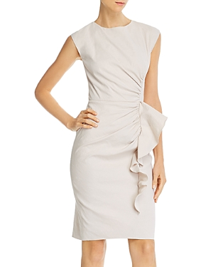 Tailored Rebecca Taylor Ruffled Sheath Dress-Women
