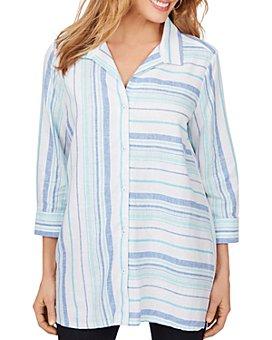 Foxcroft - Santino in Bahama Dobby Stripe Tunic