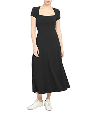 Theory Sculpture Square Neck Dress-Women