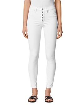Hudson - Barbara High-Rise Skinny Jeans in White
