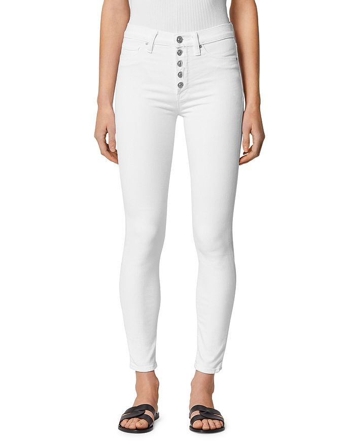 Hudson - Barbara High-Rise Skinny Jeans in White