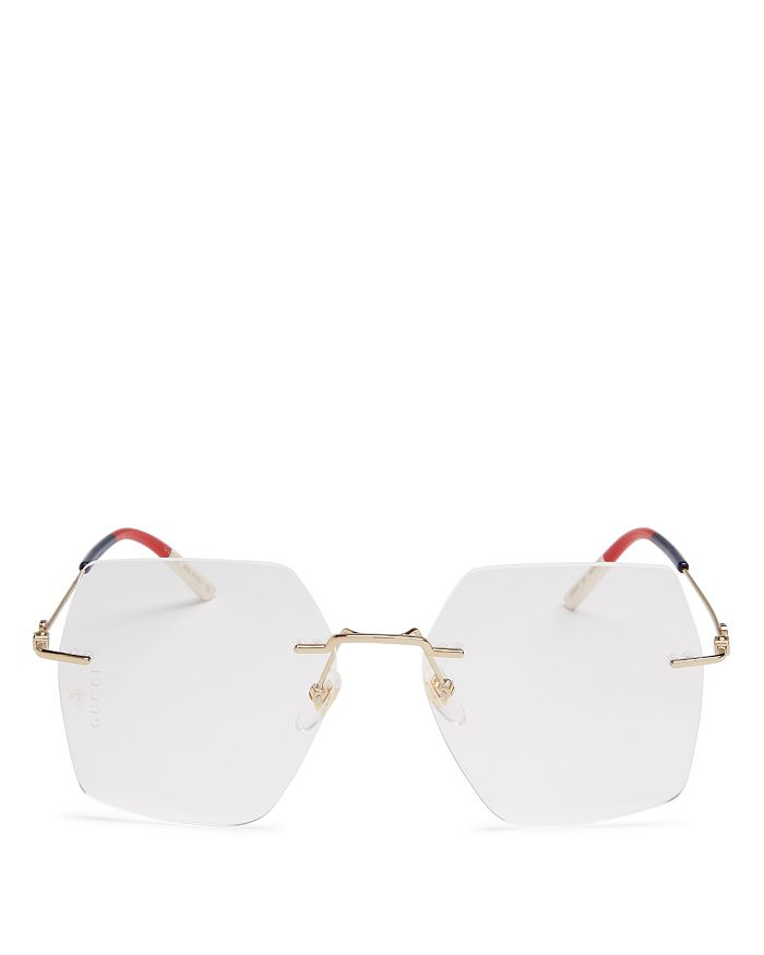 Gucci - Women's Rimless Square Readers, 55mm