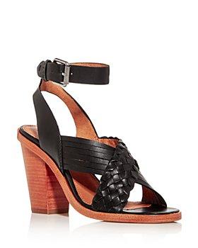 Frye - Women's Sara Criss-Cross Block-Heel Sandals