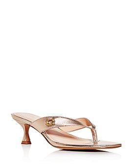 COACH - Women's Audree Square-Toe Thong Sandals