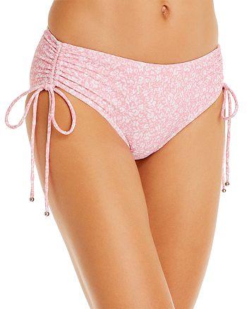 Jonathan Simkhai - Kimberly Printed Ruched Bikini Bottom