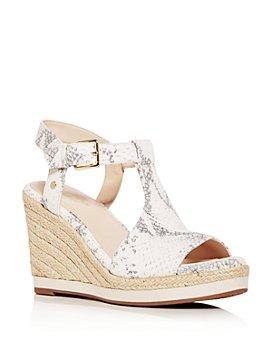 Cole Haan - Women's Cloudfeel Snake-Embossed Espadrille Wedge Sandals