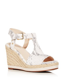 Cole Haan - Women's Cloudfeel Snake-Embossed Espadrille Wedge Sandals