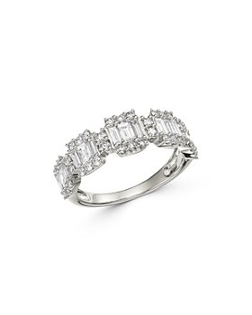 Bloomingdale's - Diamond Baguette Statement Ring in 14K White Gold, 1.0 ct. t.w. - 100% Exclusive