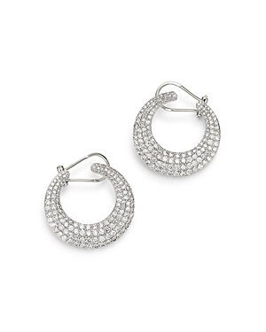 Bloomingdale's Diamond Front to Back Hoop Earrings in 14K White Gold, 3.0 ct. t.w. - 100% Exclusive