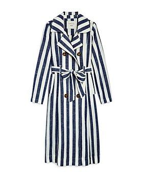 Habitual Kids - Girls' Molly Striped Trench Coat - Little Kid