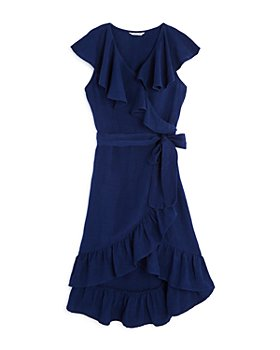 Habitual Kids - Girls' River Ruffle Wrap Dress - Big Kid
