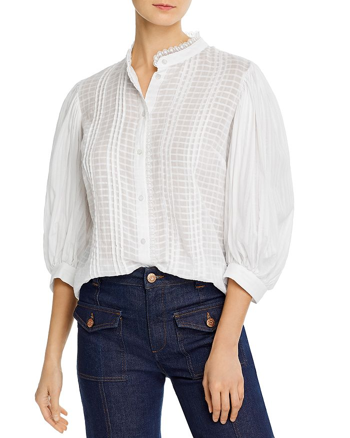 See by Chloé - Embellished Cotton Voile Blouse