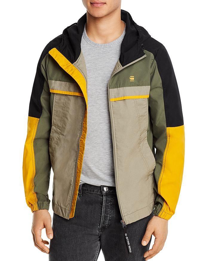 G-STAR RAW - Color-Blocked Hooded Regular Fit Jacket