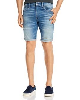 G-STAR RAW - 3301 Denim Slim Fit Shorts in Vintage Striking Blue