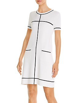 PAULE KA - Striped Mini A-Line Dress