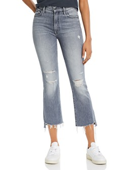 MOTHER - The Insider Cropped Flare Jeans in Ace Of Spades