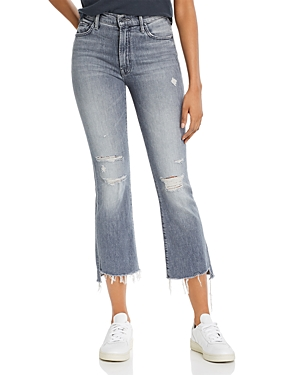 Mother The Insider Cropped Flare Jeans in Ace Of Spades-Women