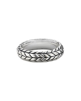 David Yurman - Sterling Silver Chevron Ring
