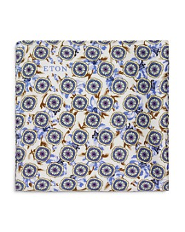 Eton - Round Flowers Silk Pocket Square