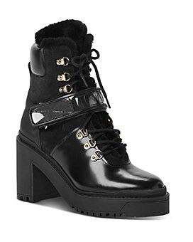 Valentino Garavani - Women's Mid-Heel Platform Combat Boots