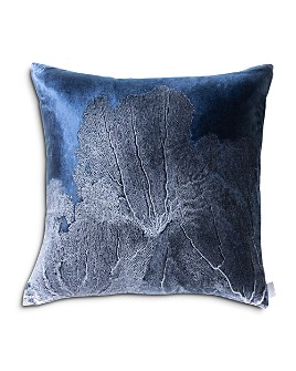 "Aviva Stanoff - Navy Seafan Decorative Pillow, 20"" x 20"""