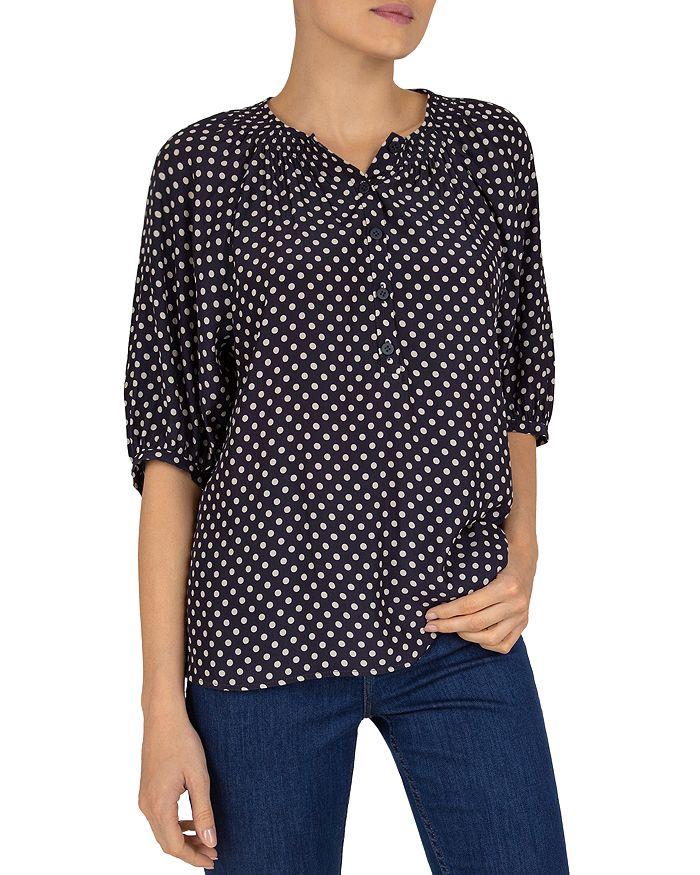 Gerard Darel Nais Geometric Print Shirt In Blue
