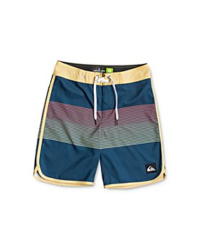 Quiksilver - Boys' Everyday Grassroots Color-Blocked Swim Trunks - Little Kid