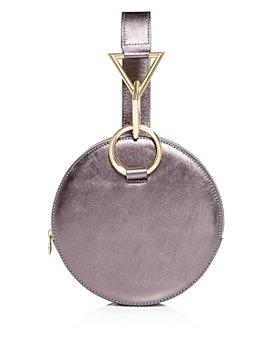 Tara Zadeh - Azar Metallic Round Clutch