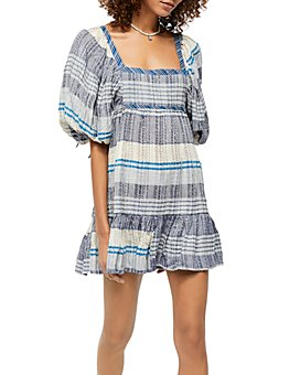 Free People - Cozy Striped Mini Dress