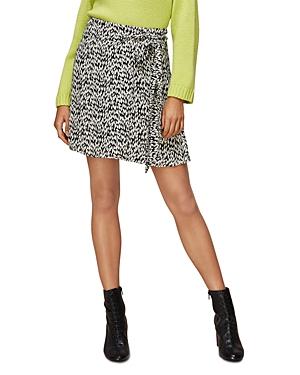 Whistles Petal Print Wrap Skirt-Women