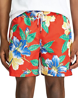Polo Ralph Lauren - Traveler Floral-Print Swim Trunks