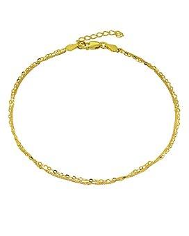 AQUA - Double Chain Ankle Bracelet - 100% Exclusive