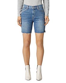 Hudson - Hanna Frayed Denim Biker Shorts in Underpass