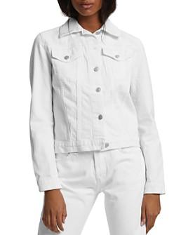 Hudson - Fitted Denim Trucker Jacket in White