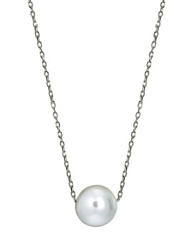 "AQUA - Cultured Freshwater Pearl Necklace in Sterling Silver or 18K Gold-Plated Sterling Silver, 15.5""-17.5"" - 100% Exclusive"
