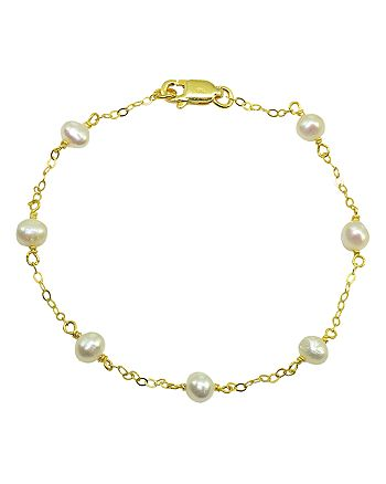 AQUA - Cultured Freshwater Pearl Station Bracelet - 100% Exclusive